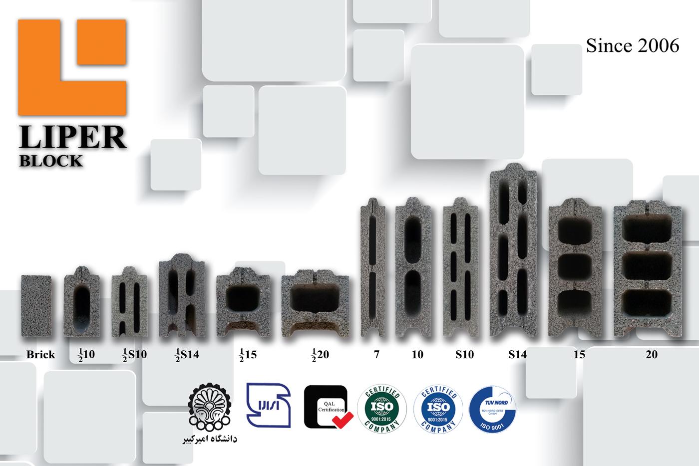 انواع محصولات بلوک لیپر